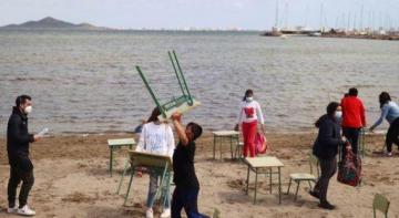 В Іспанії уроки проводять на пляжі